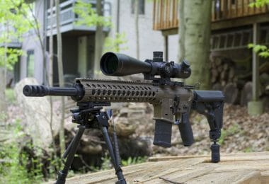 AR 15 rifle for survival