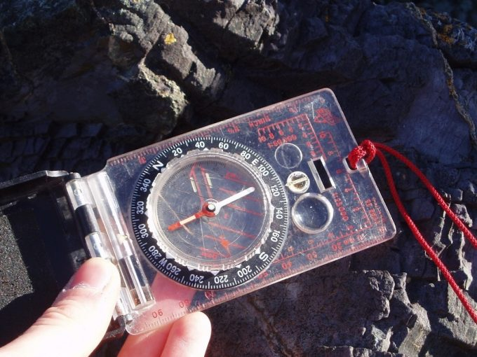 Compass with lanyard