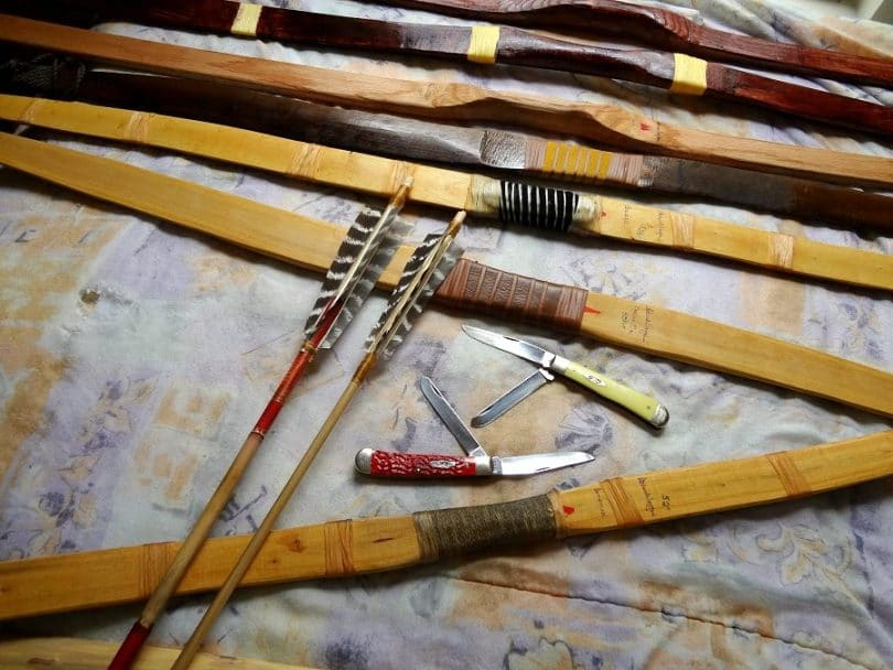 Making bow and arrow