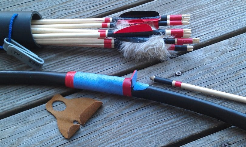 Making bow and arrows