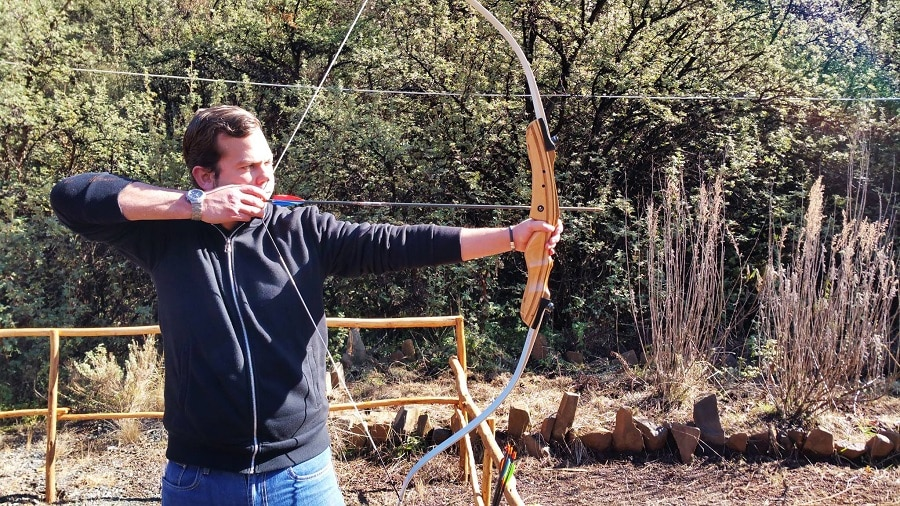 Man with a bow and arrow