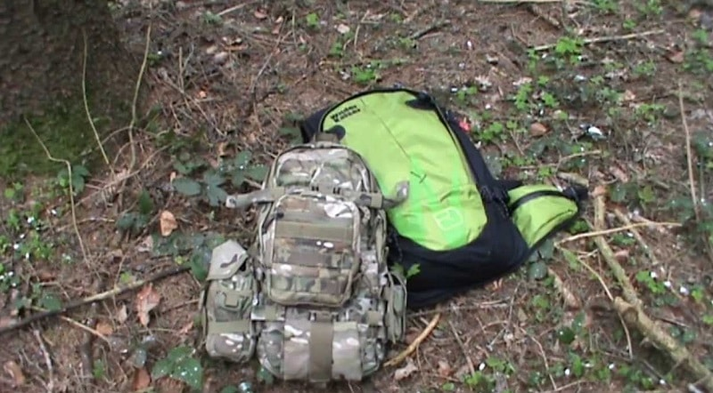 Survival backpacks different sizes and design