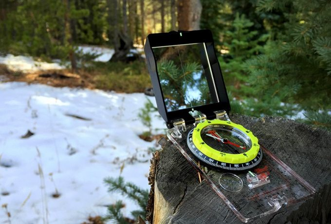 Using compass in nature