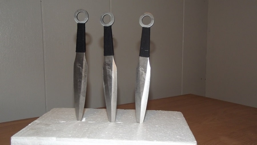 3 Silver throwing knives