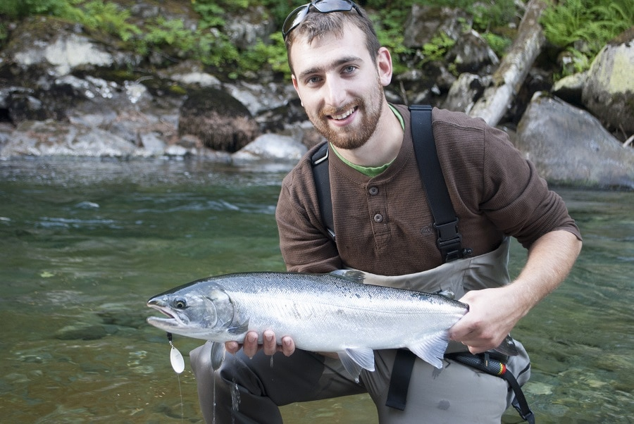 Black and silver coho