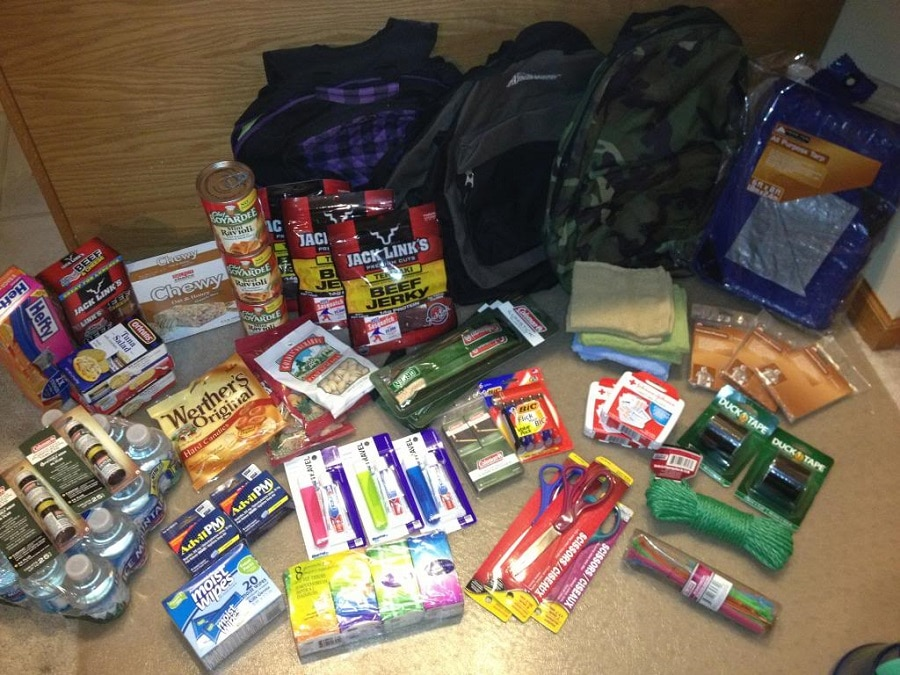 Bug Out bag food supplies