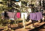 Drying clothes in the wilderness