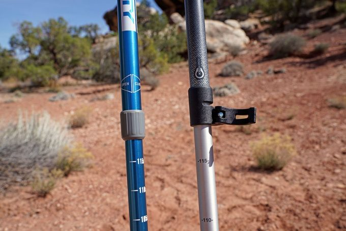Hiking poles - locking mechanisms