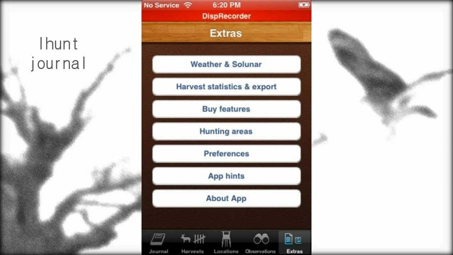 The App Has An Observation Mode It Has A Gps System And It Also Keeps In History The Records Of The Harvest Season The Ihunt Journal App Can Also Help