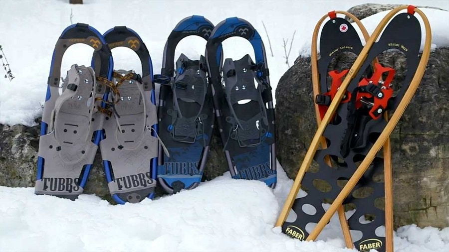 Buying snowshoes