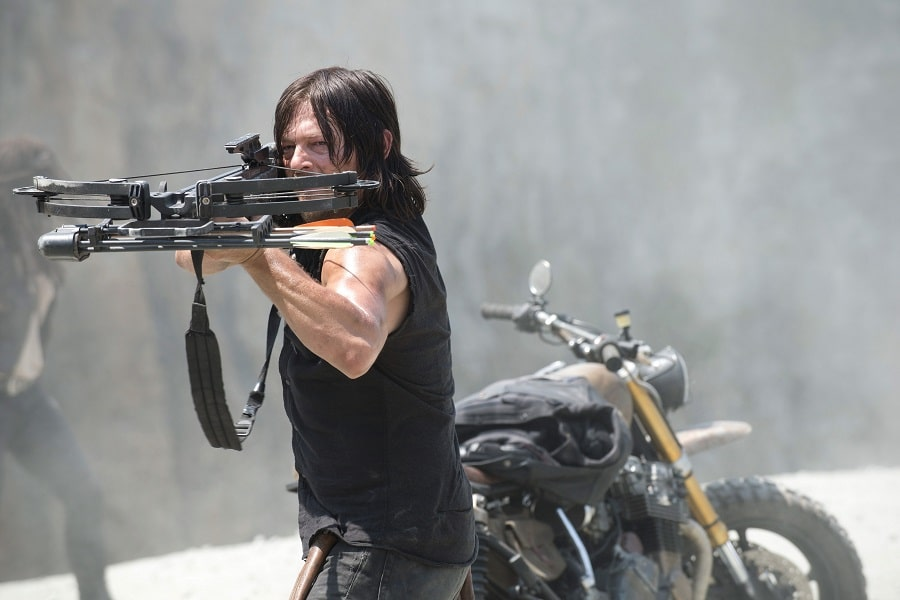 Daryl Dixon with a crossbow