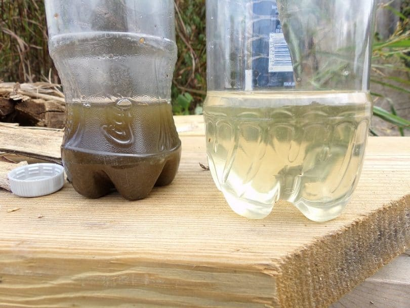 Dirty water and water filter