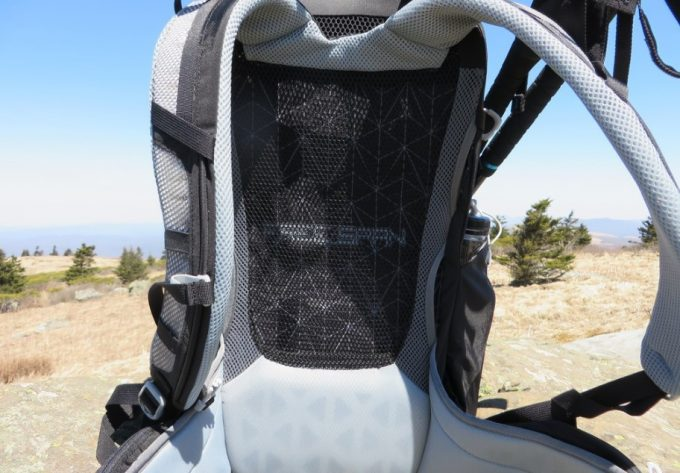 Full Ventilation Suspension System on backpack