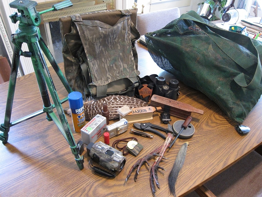 Hunting gear on the table ready