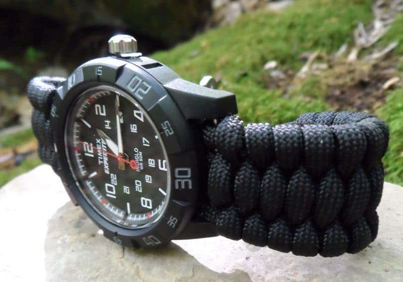 Paracord watch band making