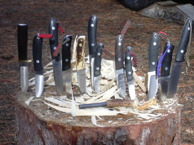 Wilderness knives use