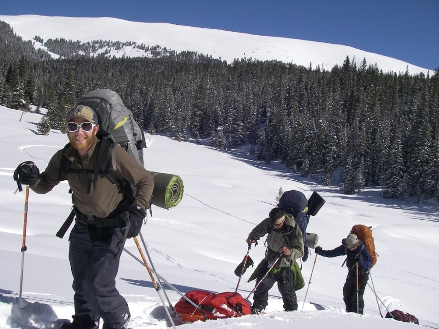 Winter backpacking expedition