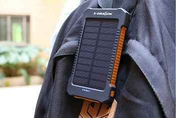 X-DRAGON 10000mAh Dual USB Solar Power Bank