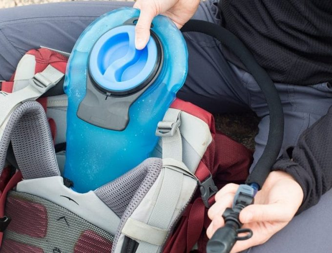 hydration bladder in backpack