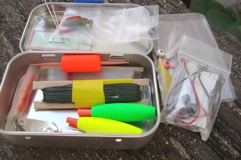 Survival fishing kit waterproof