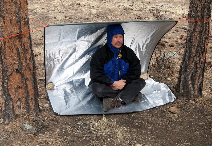 Blanket as tarp