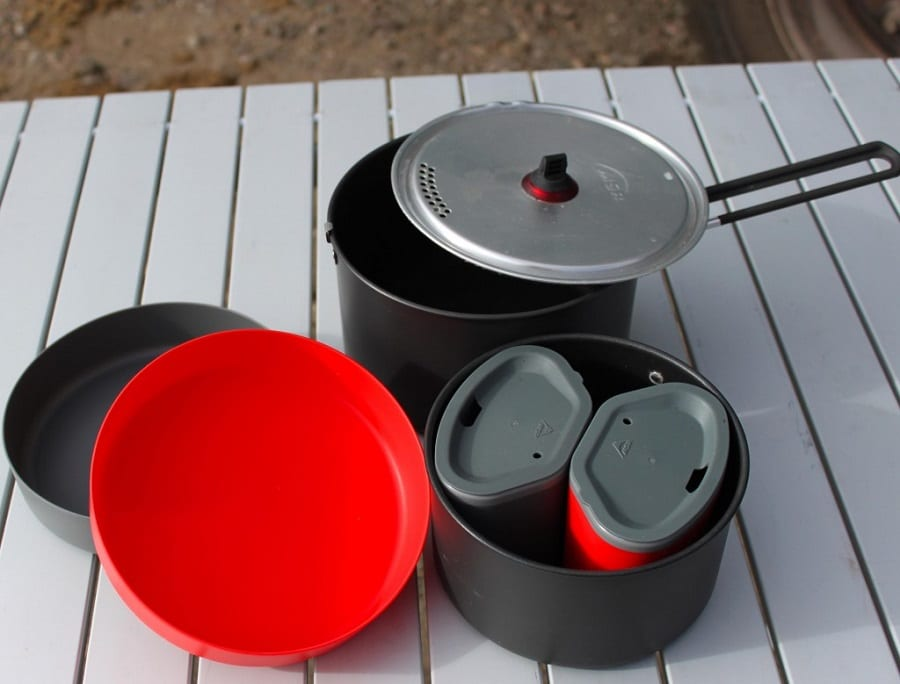 Camping cookware with extras