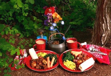 Camping food meals
