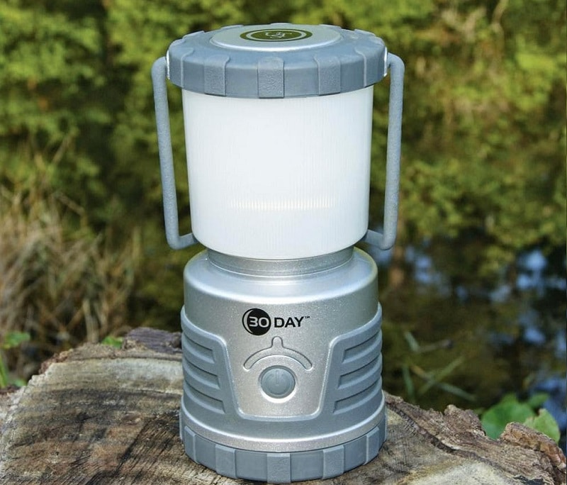 Camping lantern in the wild