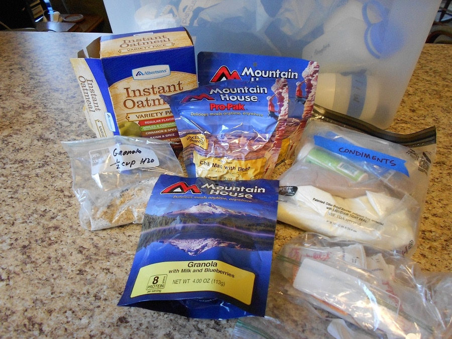 Choose your Backpacking meals