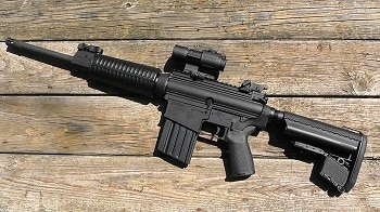 DPMS Sportical rifle on the side