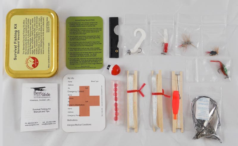Glide emergency survival fishing kit content