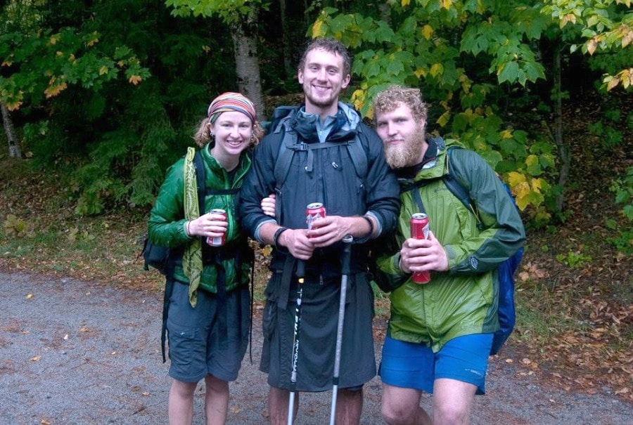 Hikers wearing layer clothing