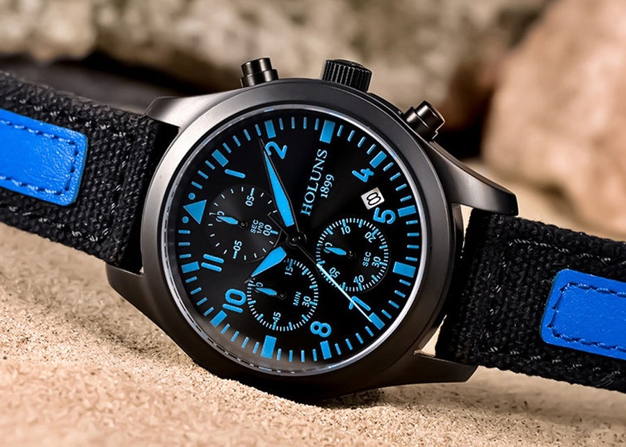 Outdoor Watch with Luminescent hands