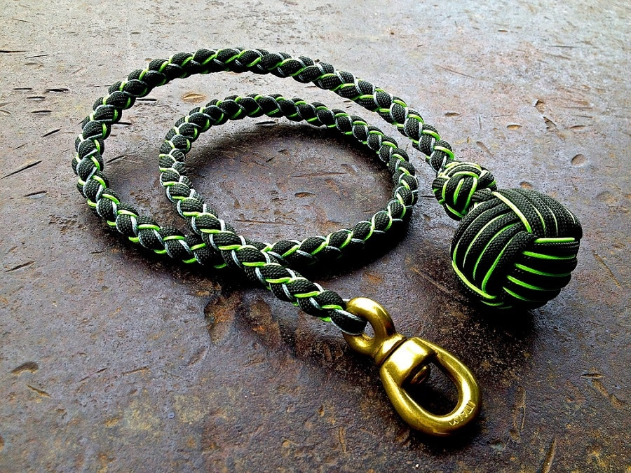 Paracord monkey fist self defense