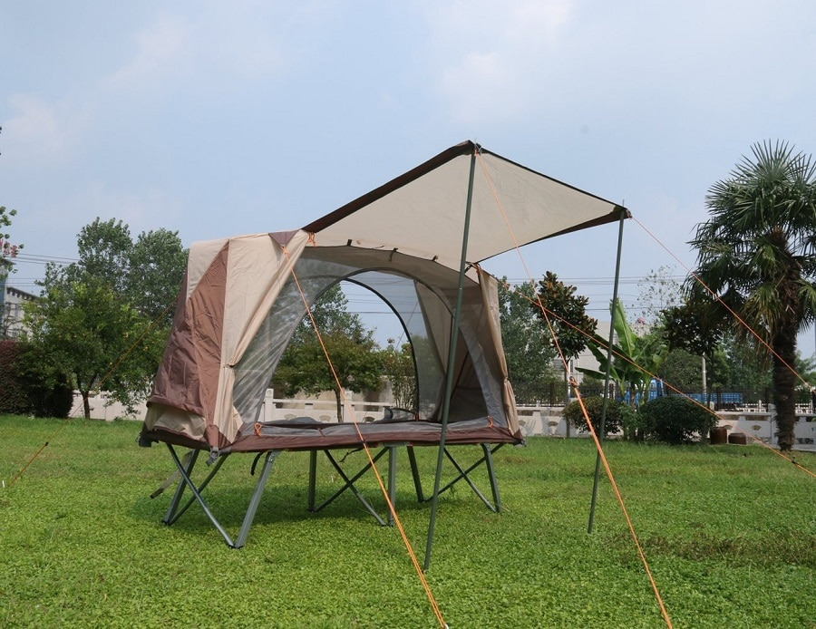 Popular camping cot with tent