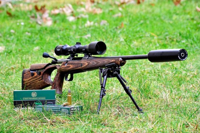 Scope on a hunting rifle