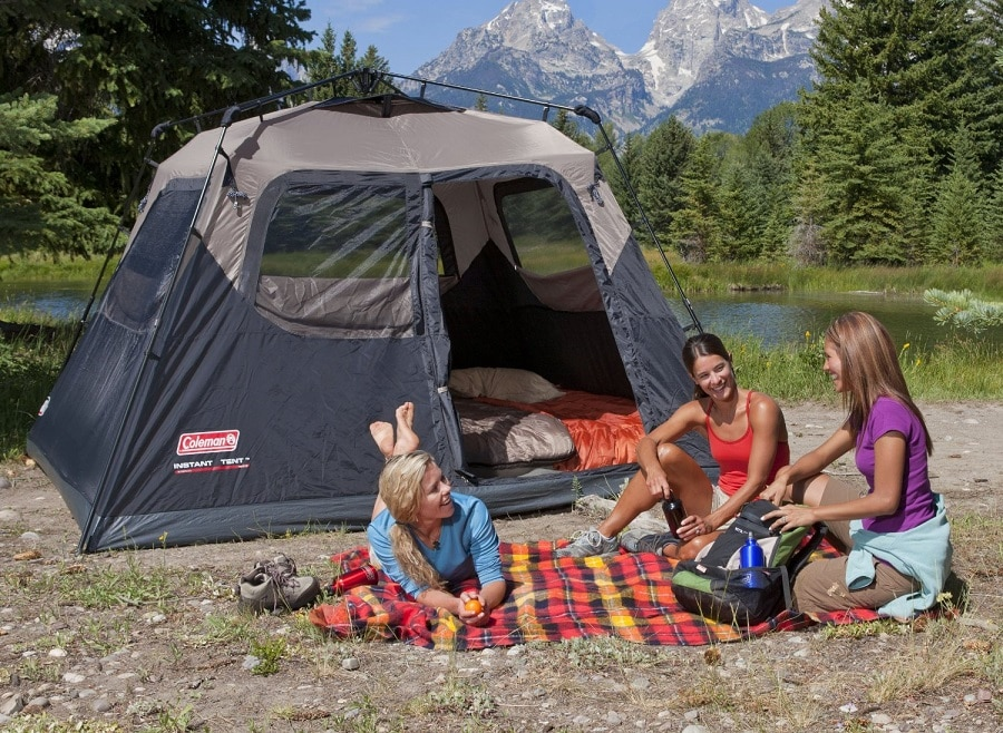 Six person tent dome type