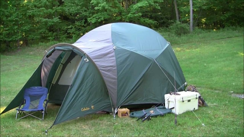 Six person tent in the wild