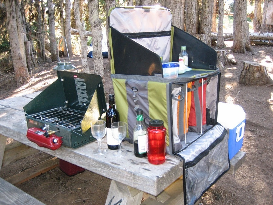 Supplies for camping cooking