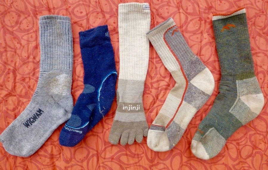 Synthetic socks for outdoor