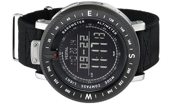 Vestal Men's GDEDP01 The Guide Stainless Steel Digital Watch