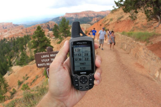 using gps on a hike