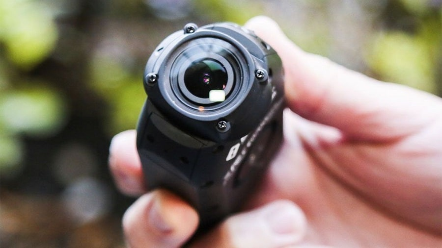 Action camera in the hand