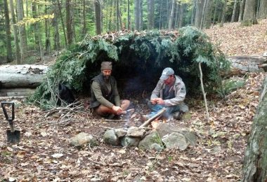 Build a survival shelter