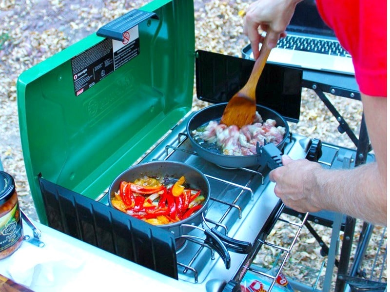 Cook your food on camping