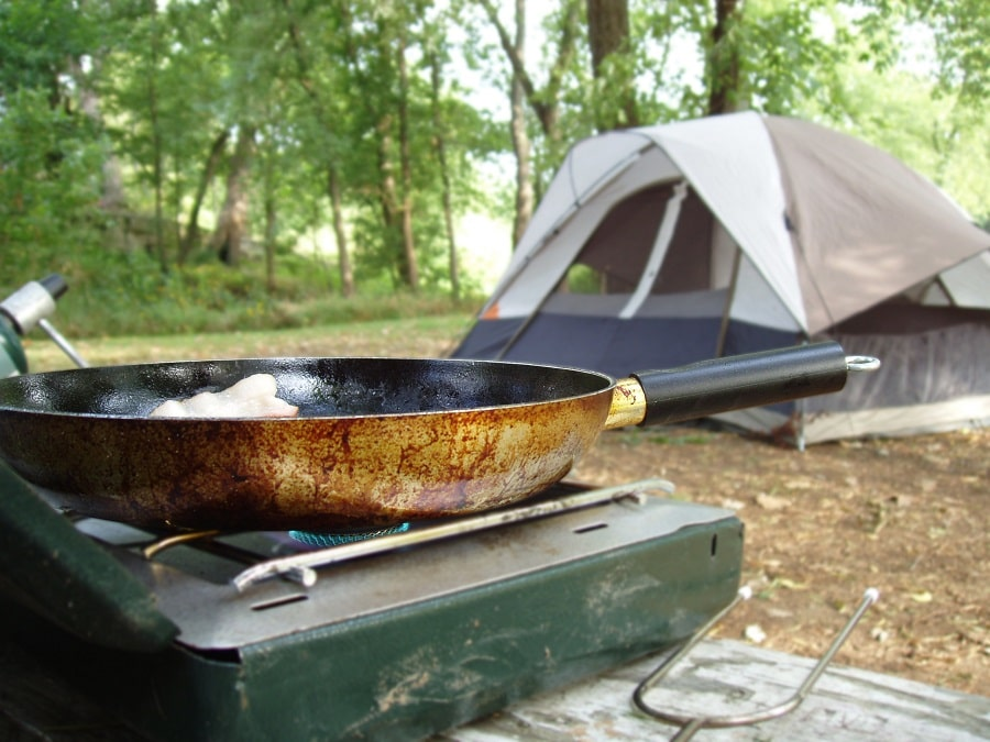 Cooking on camping