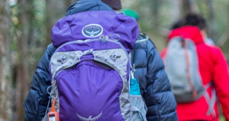 Daypack size for Short Hikes