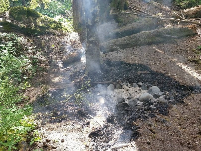 Extinguishing A Campfire