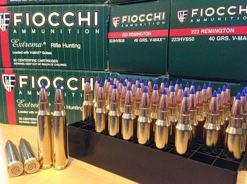 Fiocchi Extrema Ammunition 223 Remington
