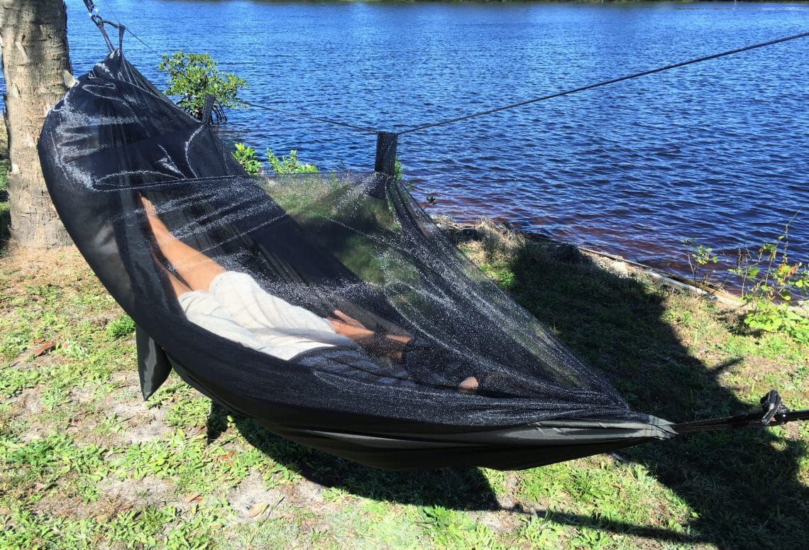 How to Use A Hammock with Mosquito Net